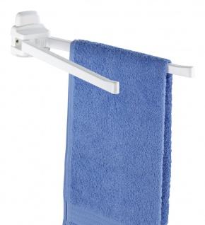 WENKO Handtuchhalter Pure - 2 bewegliche Arme, Kunststoff - ABS