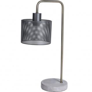 Metall-Standleuchte im Loft-Stil auf Zementsockel, Beleuchtung für moderne Innenräume - Home Styling Collection