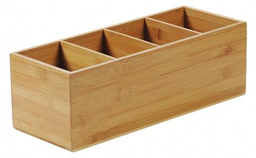 Besteckkasten, Aufbewahrungsbox mit universellem Zweck, Organizer, Bambusbehälter