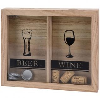 Korkensammler Weinkorkenhalter 26x22x4 cm Beer&Wein