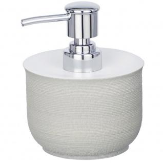 Spender mit Flüssigseifenpumpe, NEBO Kunststoffbehälter mit dekorativer Textur - 240 ml, WENKO