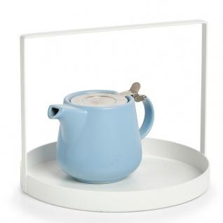 Küchentablett aus Metall mit Griff, Ø 24 cm, weiß, ZELLER - ZELLER