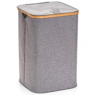 Zeller Wäschesammler, Polyester/Bamboo, Grau