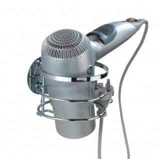 WENKO Turbo-Loc Haartrocknerhalter - Befestigen ohne bohren, Edelstahl rostfrei