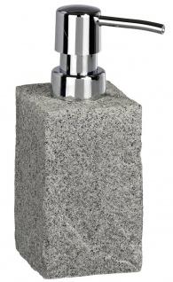 Wenko Seifenspender Lotionsspender Seifen Spender Flüssigseife Dosierer Granit