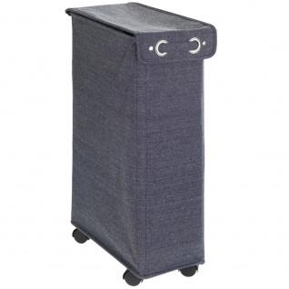 Textilwäschekorb, CORNO PRIME Behälter mit Verschluss und Rollen - 43 l, 60 x 18, 5 x 40 cm, WENKO