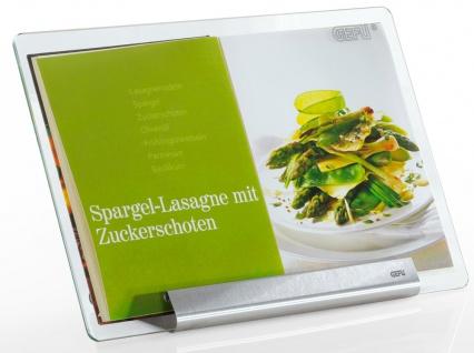 Glasregal für Kochbuch, elegantes Gadget mit universeller Metallbasis
