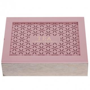 Teekiste aus Holz - 6 Fächer 24 x 17 x 7 cm