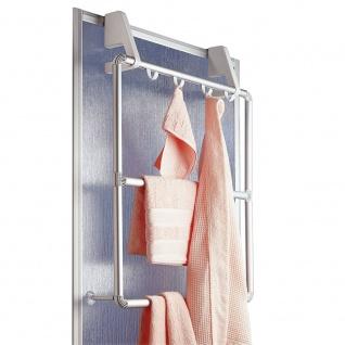 WENKO Handtuchhalter für Tür und Duschkabine Compact mit 3 Querstangen