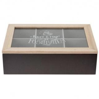 Teebox aus Holz, Teekiste, 24 x 17 x7 cm