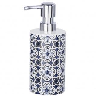 Behälter mit Flüssigseifenpumpe, Keramikspender MURCIA mit eleganter Grafik - 360 ml, WENKO