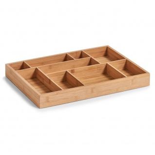 Zeller Schubladen-Organizer, Holz, natur, 44.5 x 32 x 5 cm