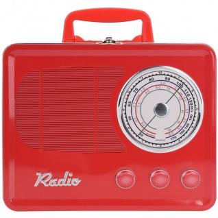 Metallbehälter, Brotdose, Lebensmittelaufbewahrung RADIO, braun