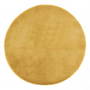 Teppich aus Kunstfell, Ø 80 cm