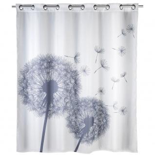 WENKO Anti-Schimmel Duschvorhang Astera Flex Polyester, 180 x 200 cm, waschbar