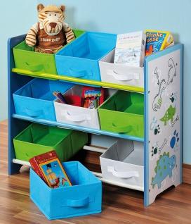 Aufbewahrungsregal, Lagerregal Herzen, Spielzeugbox, Spielzeugregal , 9 Fächer