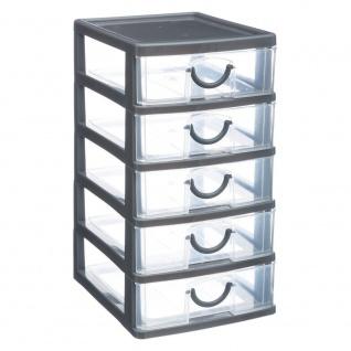 Thinkling Organizer mit 5 Schubladen, 13 x 16 x 26 cm, grau
