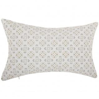 Rechteckiges Kissen mit Muster, großes Dekokissen für Wohnzimmer