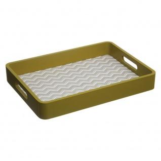Funktionale Mahlzeit Tablett, 2 Griffe, Holz, mit Muster, Küchendeko, erhöhte Kanten. - Secret de Gourmet