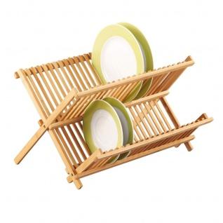 ZELLER Tellerabtropfständer, Bamboo