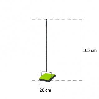 Teppichkehrer Kehrmaschine Teppich Teppichroller 2 Kehrbürsten - Vorschau 4