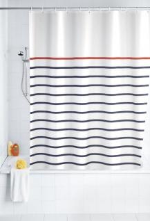 Duschvorhang Marine - waschbar, mit 12 Duschvorhangringen