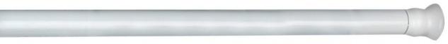 Wenko 19208100 Teleskop-Duschstange - Aluminium, Ø 2 cm, 110-185 cm, Chrom