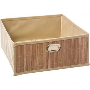 Korb aus Bambusstoff und Holz, nützlich bei der Aufbewahrung und Aufbewahrung von kleinen Dingen