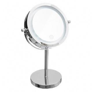 LED-Kosmetikspiegel, rund, stehend, Metall