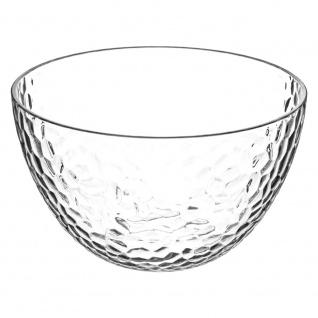 Salatschüssel aus Glas, transparent, Durchmesser 14 cm