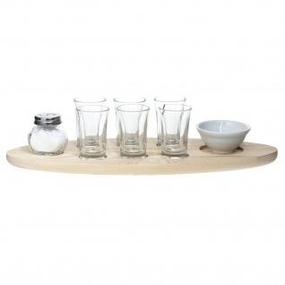 Tequila-Set mit Servierbrett, 9-teilig