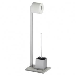 Wenko 20604100, Stand WC Garnitur, granit