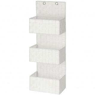 Wenko Organizer Adria zum Aufhängen, Badkörbe, 3 Ebenen, Polypropylen, weiß, 15, 5 x 25 x 72 cm