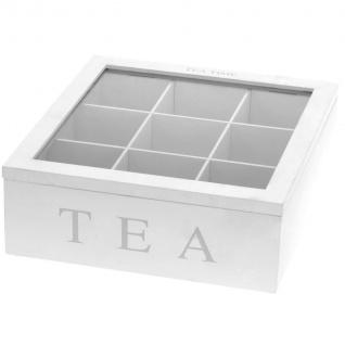 Holz Teebox TEA, 9 Fächer - Vorschau 3
