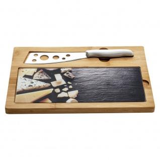 Käsebrett mit Messer, 3 Stück im Lieferumfang enthalten - Secret de Gourmet