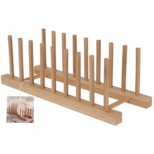 Ständer für Teller, Organizer, 100% Bambus