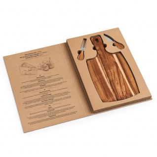 Brett mit Gabel und Messer zum Schneiden und Servieren von Käse, Küchenzubehör aus Holz - 35, 5 x 18 cm, ZELLER - Vorschau 3