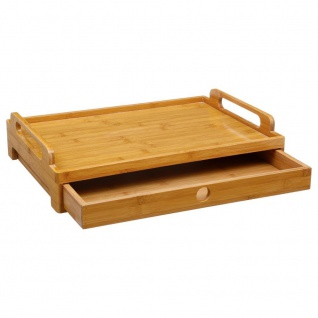 Secret de Gourmet, Bambus Frühstückstablett mit einer Schublade
