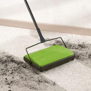 Teppichkehrer Kehrmaschine Teppich Teppichroller 2 Kehrbürsten