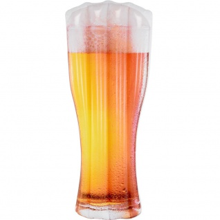 Luftmatratze als Bierglas, für eine Person, aufblasbar