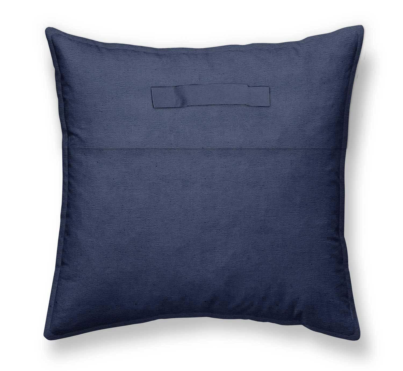 45 x 45 cm Bodenkissen LE CAP Baumwolle weiß-blaue Streifen