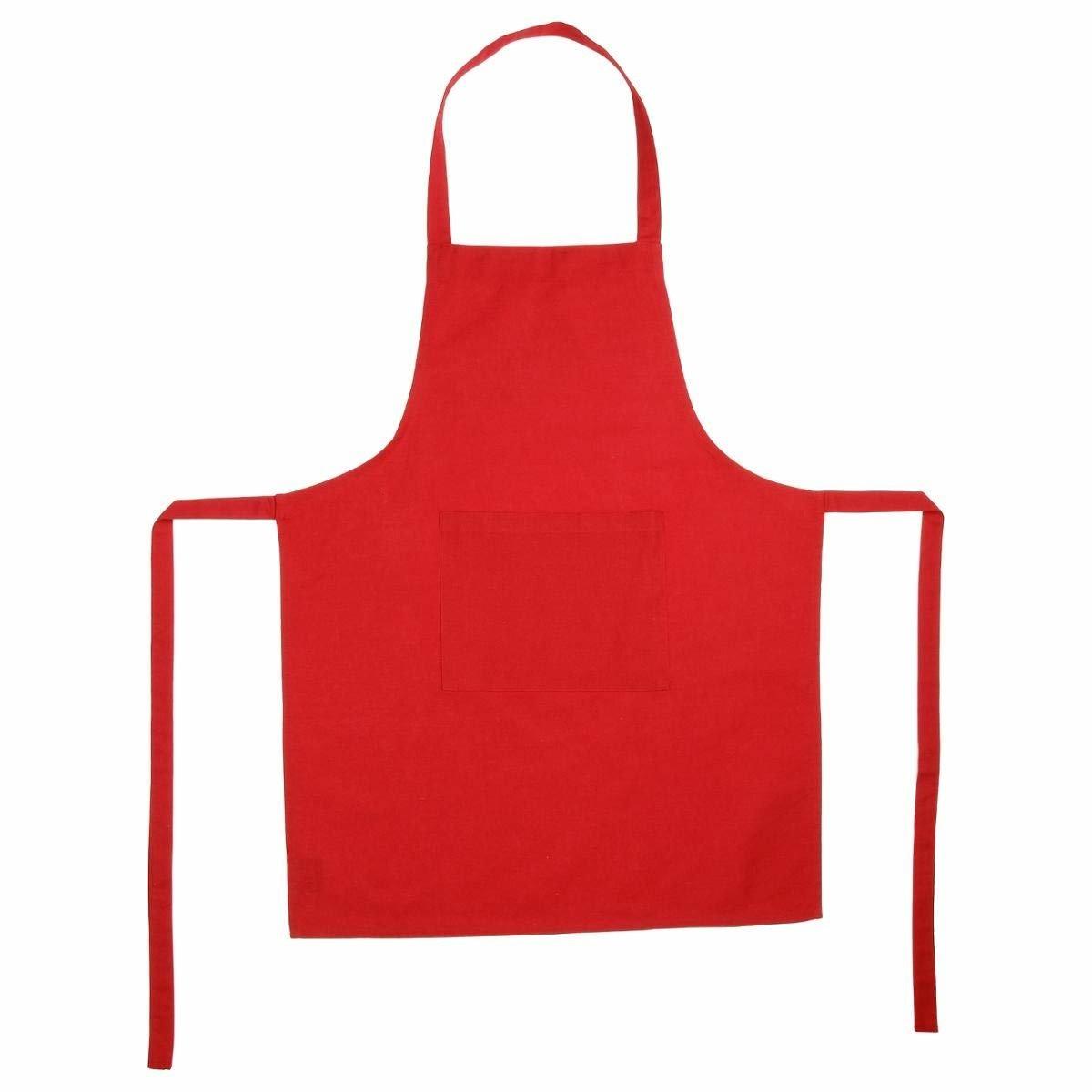 Kuchenschurze Mit Tasche Rot 60 X 80 Cm Kaufen Bei Emako Gmbh