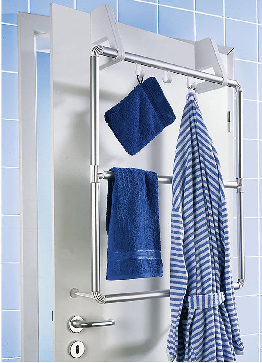 WENKO Handtuchhalter für Tür und Duschkabine pact mit 3