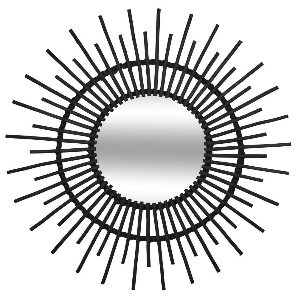 Wandspiegel Runder Spiegel Badezimmerspiegel Rund 76 Cm Sonne