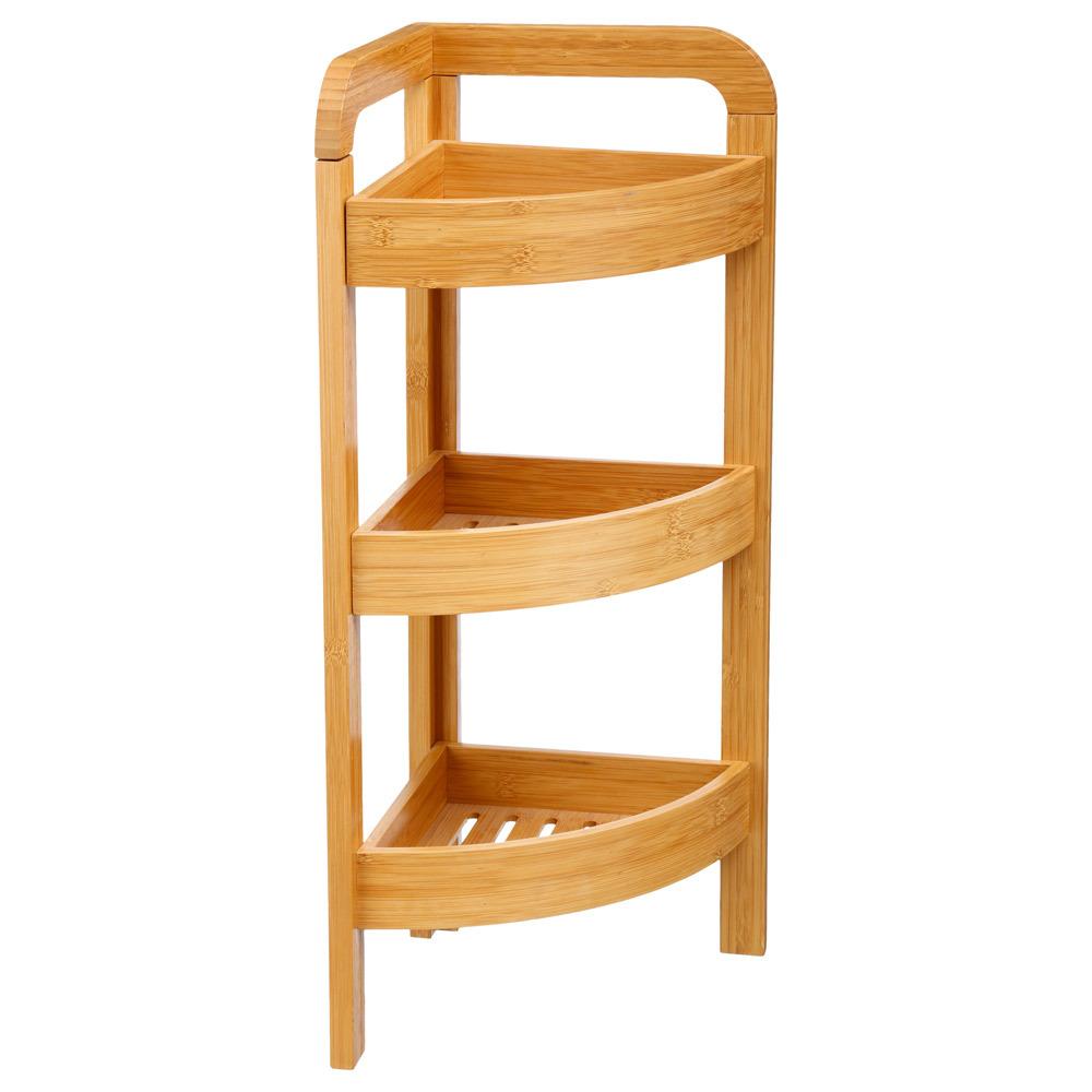 Bambusregal mit 3 Ablagen für das Badezimmer, Bambusmöbel, Badmöbel ...