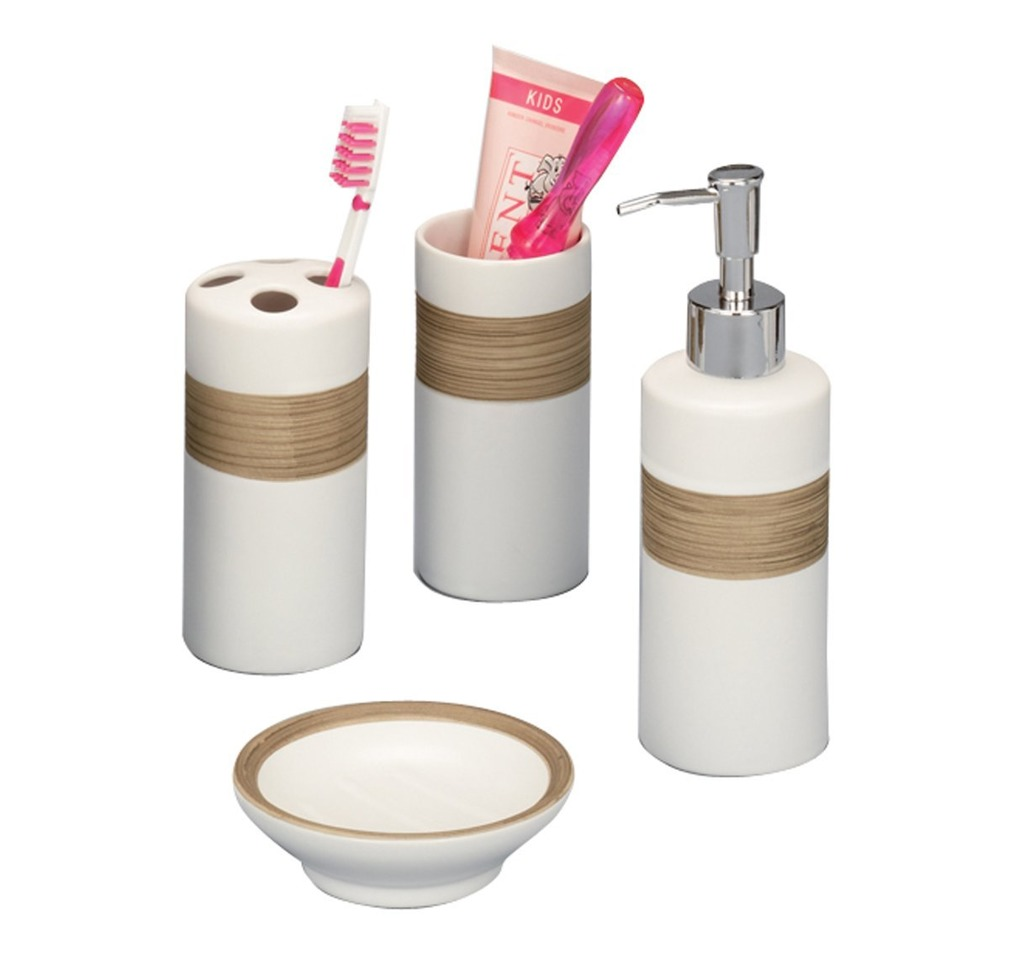Favorit Zeller Seifenspender Zahnputzbecher Badezimmer ZubehÖr Beige Bad OX15