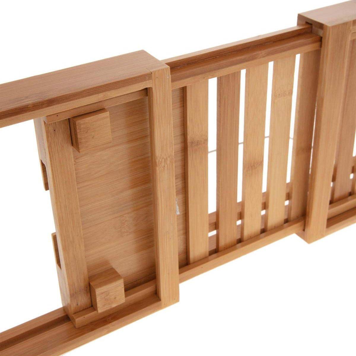 Bambus ausziehbar cm für Badewanne Kollektion Naturéo Tablett