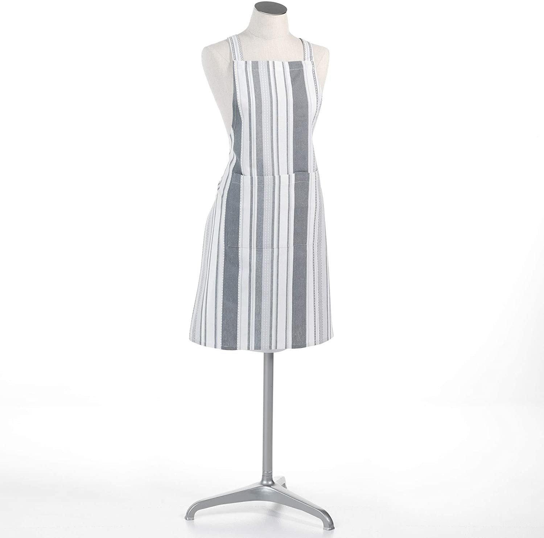 Kochschurze Fur Frauen Santorin Baumwolle 60 X 84 Cm Weiss Grau Kaufen Bei Emako Gmbh