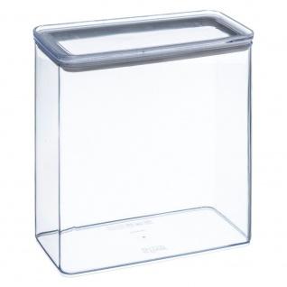 Transparenter rechteckiger Lebensmittelbehälter mit versiegeltem Deckel, 3 Liter Fassungsvermögen