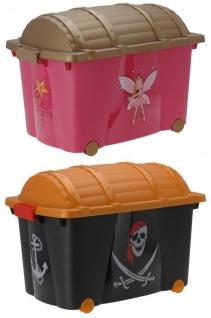 Truhe - Spielzeugbox PRINZESSINEN und PIRATEN